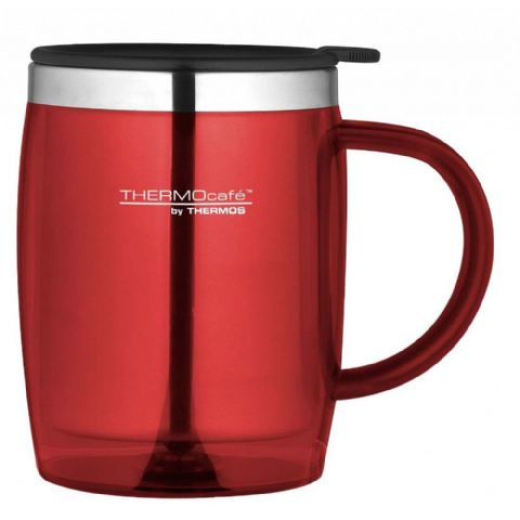 Thermos Thermocafe Red Insulated Desk Mug 450ml